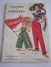 REVUE FAVORIS ET PARISIENS , MODELES DE TRAVESTIS , PRIX ET TAILLES DES PATRONS