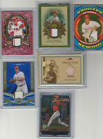 PAT BURRELL - Phillies -1999 to 2009 -Awesome 6 Card Lot -1 rookie, 5 game used