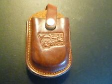 Walleyes Unlimited of Montana Leather case with snap and clip!