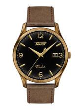 Tissot Men's Heritage Visodate Black Dial Brown Leather Watch T118.410.36.057.00