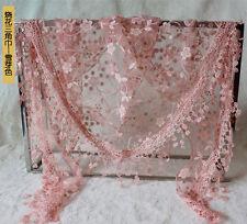 Damen Lace Schal Quaste Spitze Dreieckstuch Schulter Tuch Schals Tücher Wraps