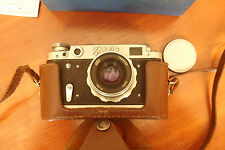 Soviet Russian Vintage Camera FED 2 И-26м 2.8/52 Lens Original Case BOX Working!