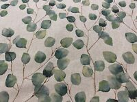 Eucalyptus Tree Green Beige Linen 140cm wide Curtain/Upholstery Fabric