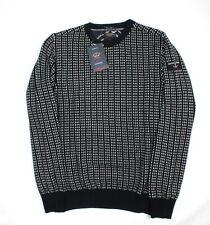 Bnwt Paul & Shark admiral's chunky navy jumper 100% quality wool size L RRP£399