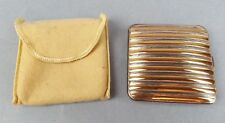 Vintage Compact Makeup Mirror with Pouch Volupte USA