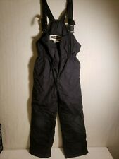 Any Mountain Gear Kids Size 12 Black Ski bib Overalls SnowpantsL 46 w 12