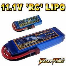 11.1V 350mAh - 5000mAh 3S RC LiPo Battery up to 65C All Sizes + Custom Connector