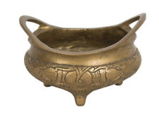 China 19. Jh. Censer - A Chinese Bronze Incense Burner  - Cinese Chinois Qing