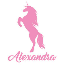 Personalised Name Unicorn Wall Art, Girls Kids Bedroom,Custom Vinyl Wall Sticker