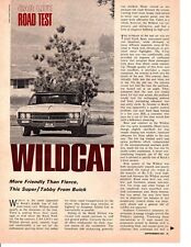 1967 BUICK WILDCAT 430/360 HP ~ ORIGINAL 5-PAGE ROAD TEST / ARTICLE / AD