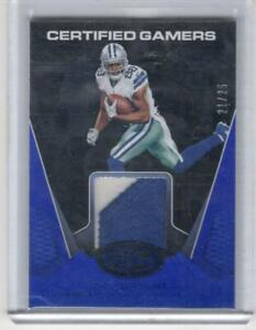 DEZ BRYANT 2017 CERTIFIED GAMERS JERSEY CARD #ED 21/25 COWBOYS