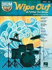 Wipe Out & 7 Other Fun Songs Drum Play-Along Book and Cd New 000125341