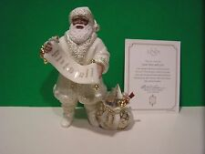 LENOX GOOD BOYS and GIRLS SANTA NEW in BOX with COA African American Ebony