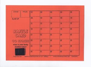 10 Cards - Lucky Number Raffle Cards A5 - Fundraising - 40 Spaces