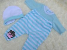 "PJs MY FIRST BABY ANNABELL BROTHER BLUE ROMPER HAT BLANKIE FOR 14"" BABY DOLL NEW"