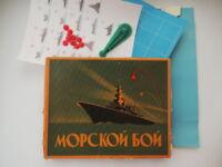 Warships Fighting Ships Vintage Soviet USSR Table Board Kids Game Sea Battle