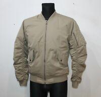 CRIMINAL DAMAGE Brown Bomber Jacket Cotton Polyester Casual Mens Size UK S EU M