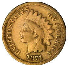 1871 INDIAN HEAD 1 CENT PENNY ~ VG VERY GOOD ~ PRICED RIGHT!