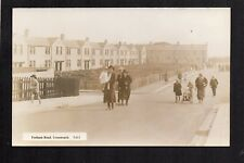 Lynemouth - Fenham Road - real photographic postcard