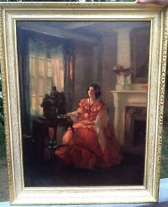 Melanie GONE WITH THE WIND Antique 1930s LITHOGRAPH Framed MARGUERITE PEARSON