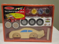 Melissa & Doug Decorate Your Own Wooden Race Car Educational Toy Craft Kit NIB
