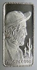 1 OZ SILVER ART BAR .999 PURE 1974 Hamilton Mint Prospector Profiles