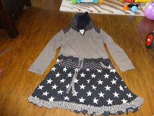 BOUTIQUE MIMPI CIRCUS SHOW BLACK STRIPED STAR DRESS LONG TOP 7 122