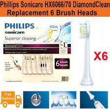 Genuine New Phillips Sonicare HX6066/70 DiamondClean Replacement  6 Brush Heads