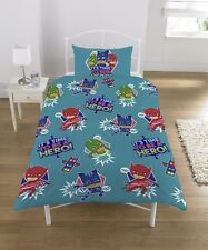 Disney Pj Masks 'It' S Time To Be A Hero' Reversible Rotary Single Bed Duvet Qui