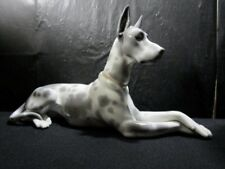 """Beautiful Lladro  """" Grey Spotted Great Dane """" Figure - Extremely Scarce & Large"""