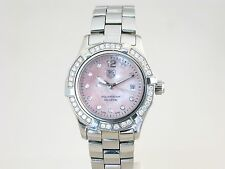 TAG HEUER AQUARACER DIAMOND SET, PINK MOTHER OF PEARL DIAL, REF, WAF141B