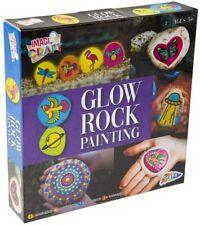 Rock Painting Kit Rocks Paints Stones Set Kids Childrens Glow In The Dark UK