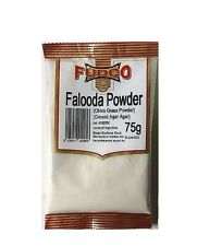 GROUND AGAR AGAR - FALOODA /CHINA GRASS POWDER - 75g - FUDCO - PREMIUM  QUALITY