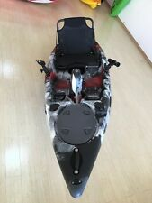 3.3M Fishing Pedal Kayak Single Sit-on 8 Rod Holders Seat Paddle