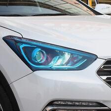 1x 12*24'' Car Light Headlight Taillight Styling Sticker Film Blue Waterproof