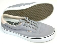 Vans Unisex Shoes Gray Canvas Leather Trim Skate Pro Classic Men 9 Women 10.5