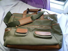 LEVENGER ADVENTURE BRIEFDUFFEL CANVAS AND LEATHER  LAPTOP BUSINESS BAG X LARGE