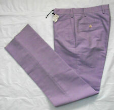 NEW TURNBULL & ASSER Italy CHINOS Lilac Purple Suit Trousers Pants W 34 L 32 36
