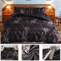 Marble Pattern Duvet Bedding Set Comforters Quilt Cover Bed Sheet SINGLE/King