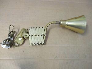Alte Scherenlampe  Bauhaus Lampe Scheren Leuchte Werkstattlampe aus Messing