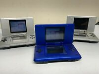 Lot of 3 Nintendo DS Original NTR-001 Console for parts -two play games-