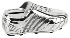 Silver Plated Soccer Boot Money Bank Christening Gift For Babies
