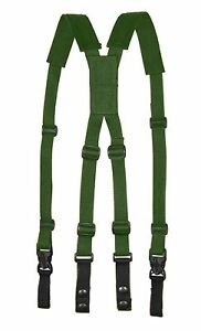 Black Tan Green Gray Police Tactical Duty Belt Suspenders with Widths & Length