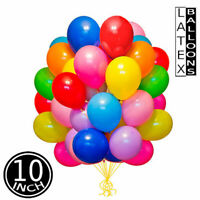 "Pack of 10 / 100 , 10"" Large Latex Plain Birthday Party Baloons Ballons Balloons"