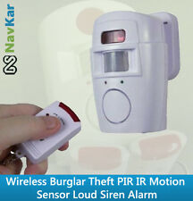 Wireless Burglar Theft Loud Siren Alarm PIR IR Motion Sensor Security Siren