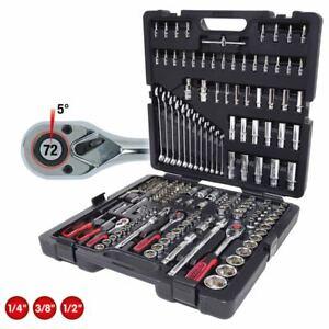 "KS Tools 1/4"" + 3/8"" + 1/2"" CHROMEplus Steckschlüssel-Satz, 216-tlg."