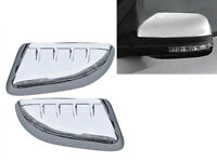 Fit 2011-2015 Ford Explorer Top Half Chrome Side Door Mirror Cover Covers