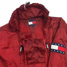 Vintage Tommy Hilfiger Zip Up Jacket Large Flag Red RARE