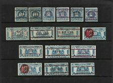 """U.S. 16 PLAYING CARDS REVENUE STAMPS, """"RF"""" SERIES, ALL DIFFERENT CANCELS"""