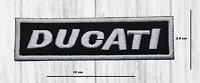 DUCATI MOTOR BIKER PATCHES IRON OR SEW ON EMBROIDERED BADGE APPLIQUE  LOGO